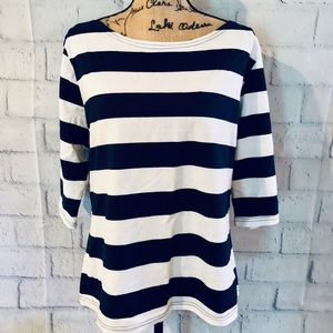 🌸 Blue & White 3/4 Sleeve Lightweight Top 🌸